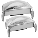 LUNAR OBLONG ROLL TOP CHAFERS, STAINLESS