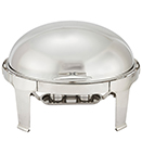 MADISON FULL SIZE OVAL ROLL TOP CHAFER, STAINLESS