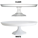 CAKE STANDS WITH PEDESTAL, DISPOSABLE PLASTIC