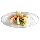 DINNERWARE, PLATES, CLEAR, DISPOSABLE PLASTIC