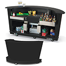PORTABLE BAR, CURVED STYLE, BLACK