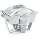 MAXIMILLIAN STEEL™ RECTANGULAR CHAFERS, LIFT OFF LID, HALF SIZE
