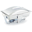 MAXIMILLIAN STEEL™ RECTANGULAR CHAFERS, LIFT OFF LID, FULL SIZE