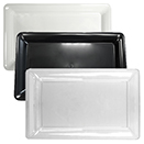 TRAYS, RECTANGULAR, DISPOSABLE PLASTIC