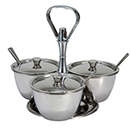RELISH SERVER WITH 3 COMPARTMENT, STAINLESS