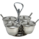 RELISH SERVER WITH 4 COMPARTMENTS, STAINLESS