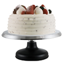 CAKE STAND, REVOLVING, CAST IRON BASE / SILICONE BOTTOM
