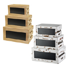 DISPLAY  CRATE RISER SET WITH CHALKBOARD, RUSTIC STYLE, WOOD