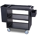 SERVICE CART, 1 BRAKE, 2 FIXED CASTERS, 2 SWIVEL CASTER