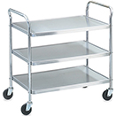 UTILITY CART, KNOCK DOWN, STAINLESS
