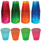 SHOT GLASS, NEON COLORS, DISPOSABLE PLASTIC