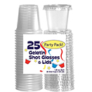 SHOT GLASS WITH LIDS, CLEAR, DISPOSABLE PLASTIC, PKG/750