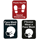SOCIAL DISTANCE/COMPLIANCE SIGNS