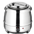 ELECTRIC SOUP KETTLE, HINGED LID, STAINLESS STEEL
