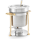 CLASSIC BRASS TRIM SOUP MARMITE, LIFT OFF LID,18/8 STAINLESS