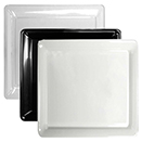 TRAYS, SQUARE, DISPOSABLE PLASTIC, PKG/6