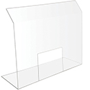 HEALTH SAFETY SHIELD WITH POS WINDOW,  31 3/4