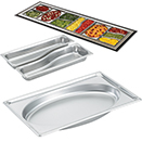 STEAM TABLE PANS, SUPER PAN<SUP>®</SUP> SUPER SHAPES, STAINLESS