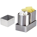 SUGAR PACKET HOLDER, SATIN FINISH STAINLESS