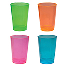 TALL TUMBLERS, NENO COLORS, DISPOSABLE PLASTIC