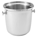 WINE BUCKET AND STAND, 18/10 MIRROR FINISH STAINLESS - WINE BUCKET, 9 7/8