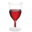 WINE GLASS, 1 PC., DISPOSABLE, CLEAR, PKG/48