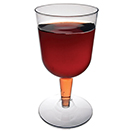 WINE GLASS, 2 PIECE, CLEAR, DISPOSABLE PLASTIC, PKG/400