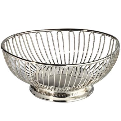 Basket 9 Quot X 7 Quot Oval Nickelplate Buy Basket 9 Quot X 7