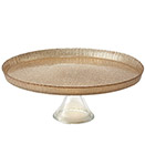 CAKE STAND WITH GOLD GLITTER, GLASS