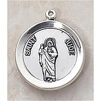 Saint Jude Medal In Sterling Silver