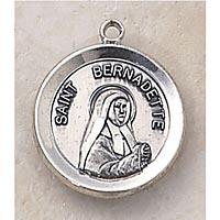 Saint Bernadette Medal In Sterling Silver
