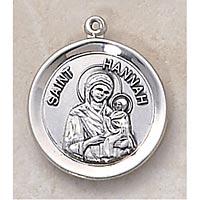 Saint Hannah Medal - In Sterling Silver