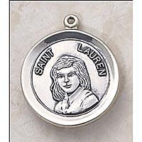 Saint Lauren Medal - In Sterling Silver