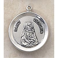Saint Victoria Medal - In Sterling Silver