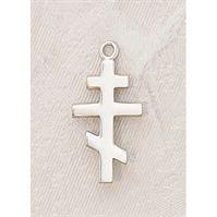 Orthodox Cross Pendant in Sterling Silver