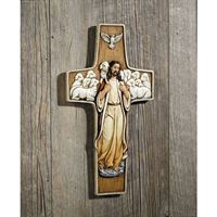 Good Shepherd Cross - with The Holy Spirit