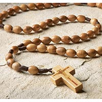 Olivewood Cord Rosary