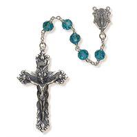 Aqua Austrian Crystal Rosary - for Women