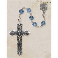 Cielo Blue Austrian Crystal Rosary