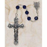 Austrian Crystal Sapphire Rosary