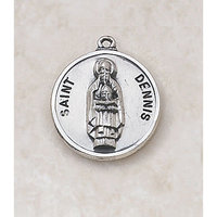 Saint Dennis Medal - in Sterling Silver