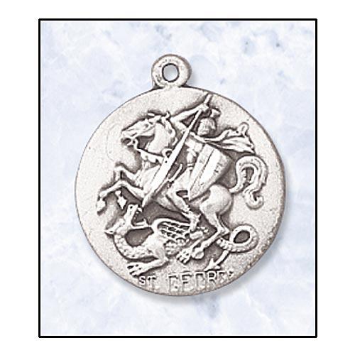 Saint George Medal In Sterling Silver