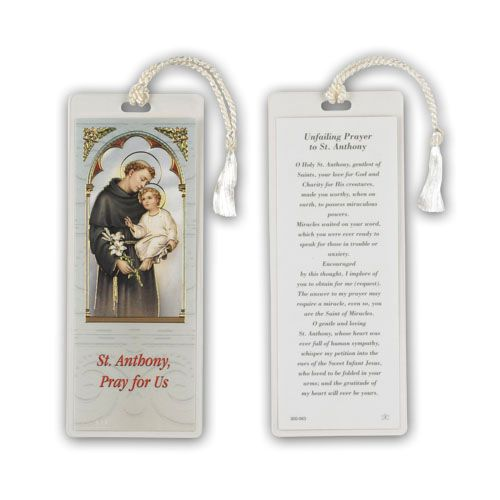 Saint Anthony Laminated Bookmark