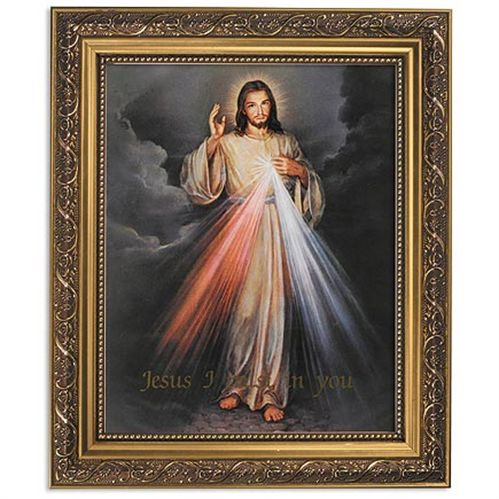 The Divine Mercy Framed Print Under Glass Wall Decor