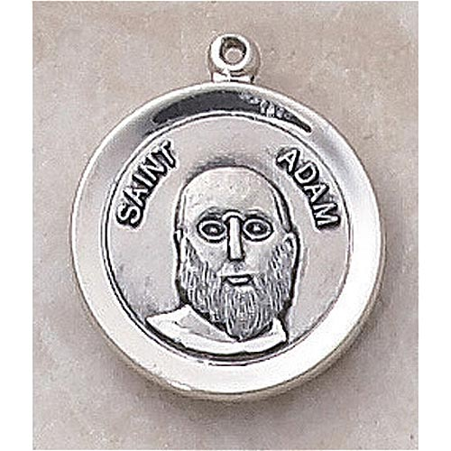 Saint Adam Medal In Sterling Silver