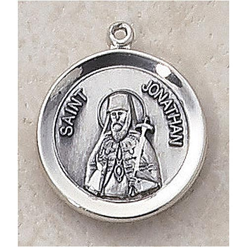 Saint Jonathan Medal - In Sterling Silver - Creed Jewelry