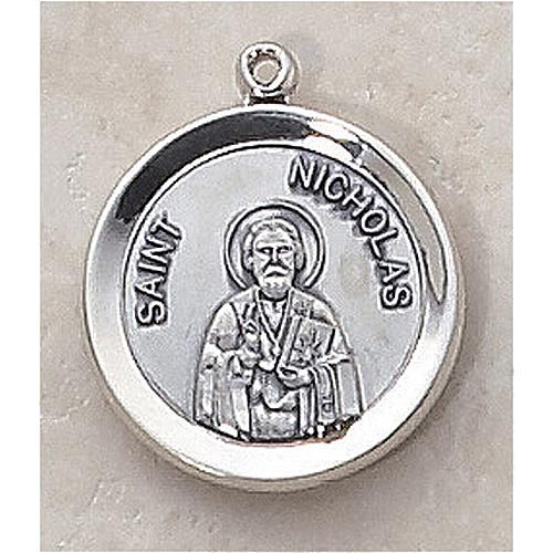 Saint Nicholas Medal - In Sterling Silver