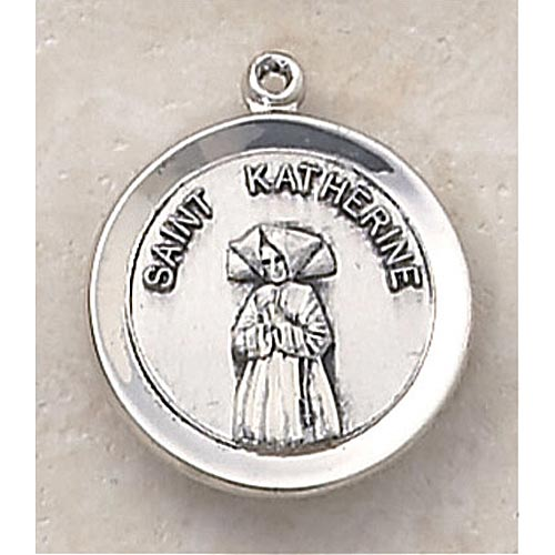 Saint Katherine Medal - In Sterling Silver