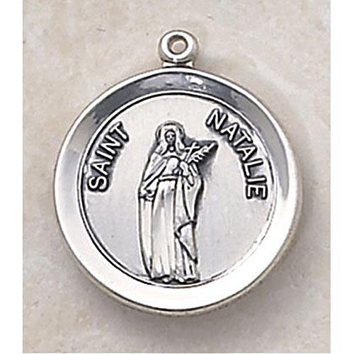Saint Natalie Medal - In Sterling Silver