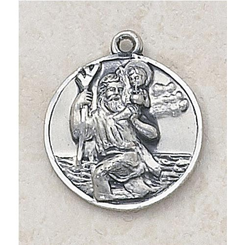 Saint Christopher Patron of Travelers - Sterling Silver Medal